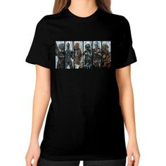 Galactic Bounty Hunter Guild Unisex T-Shirt (on woman)