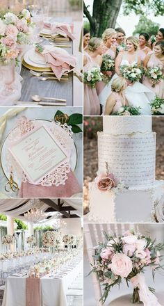 elegant blush pink and greenery spring wedding ideas wedding palette 7 Chic and Romantic Blush Pink Modern Wedding Color Ideas Pink Wedding Colors, Blush Pink Weddings, Romantic Weddings, Wedding Color Schemes, Elegant Wedding, Perfect Wedding, Gold Weddings, Spring Weddings, Unique Weddings