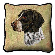 German Shorthaired Pointer Dog Portrait Pillow