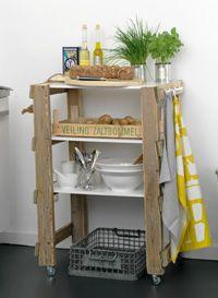 #DIY Kitchen trolley - #101woonideeen.nl - Dutch interior and crafts magazine