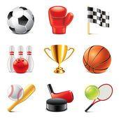 Sport icons photo-realistic vector set — Ilustração de Stock