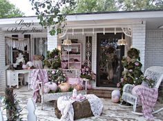 Penny's Vintage Home: Pastel Front Porch for Fall