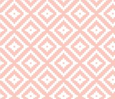 Aztec // pink fabric by littlearrowdesign on Spoonflower - custom fabric