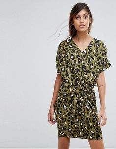 Buy it now. Liquorish Twist Front Dress In Leopard - Green. Casual dress by Liquorish, Lightweight woven fabric, Leopard print, V-neck, Twist front, Regular fit - true to size, Machine wash, 100% Polyester, Our model wears a UK 8/EU 36/US 4 and is 175cm/5'9 tall. All-occasion label Liquorish have it all, from bodycon dresses to statement coats. Launched in launched in 2009, they soon became renowned for their stand-out prints, jacquards and hand-sequined pieces. We love their flowing kimono…