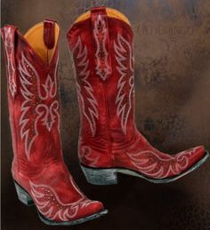 Who wants some RED HOT Old Gringo Boots? Wow these are AWESOME! —  www.MarloMillerBoutique.com
