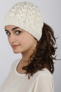 Great ponytail toques from Fit to Flick - a great alternative to the  typical winter hat that you have to squish your hair underneath - and  they re made of ... 3ef0f1794fc