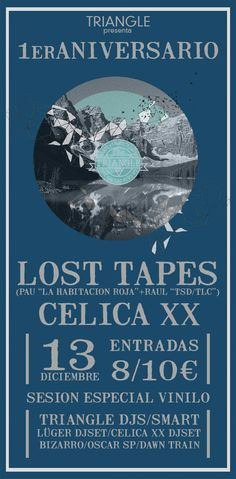 Lost tapes + Celica XX poster for TRIANGLE