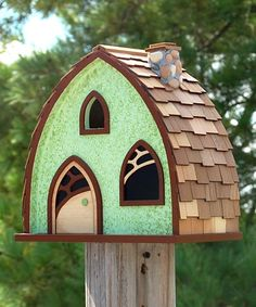 Home Bazaar Cheshire Cottage Bird House at BestNest.com