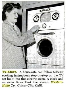 Combination Television/Stove Produced by the... | Scout's Atomic Flash