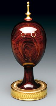 "(3) FABERGE eggs__Theo Faberge__"" SCRIBE"" Egg  by Theo Faberge"
