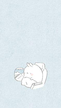Molang Cute Wallpaper Backgrounds, Wallpaper Iphone Cute, Aesthetic Iphone Wallpaper, Aesthetic Wallpapers, Soft Wallpaper, Kawaii Wallpaper, Kawaii Doodles, Kawaii Art, Kawaii Drawings