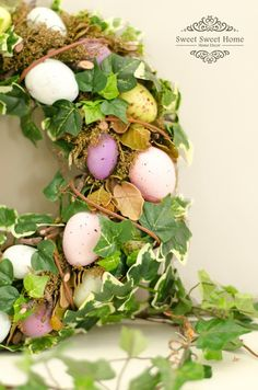 beautiful wreath for Easter