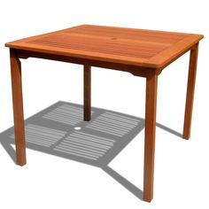 Ibiza Outdoor Eucalyptus Wood Stacking Dining Table - Overstock Shopping - Great Deals on Dining Tables