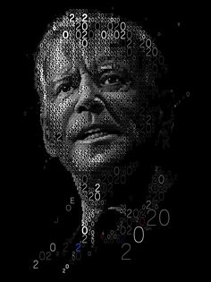 JOE 2020 A mosaic portrait of Joe Biden made out with 2s and 0s. #Mosaic #Typography #Photomosaic #Collage #portrait #Democrats Collage Portrait, Mosaic Portrait, Political Advertising, Study Design, Photo Mosaic, Design Theory, Joe Biden, Making Out, Typography