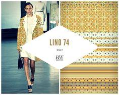 rwpattern  A mustardy Moorish #print for #ss17  #pattern #textiles #fashion #apparel #retro #70s #detailed #geometric