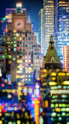 Manhattan - New York City, bokeh double exposure Manhattan New York, Empire State Of Mind, Empire State Building, Photo New York, New York City, Ville New York, Foto Poster, I Love Nyc, New York