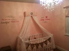 Crib Canopy Nursery Bed JoJo Teesters Princess by SoZoeyBoutique