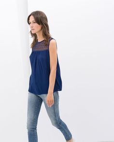 Image 2 of COMBINED GUIPURE TOP from Zara   17,99