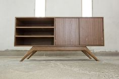Danish Mid Century Inspired Media Credenza by YoshiharaFurnitureNW, $1600.00