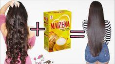 Cabello Liso Natural Con Maizena  Este Alisado Sin Calor Funciona  Bes...