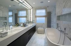 Italian marble floor and wall tiles with Thassos vanity top