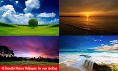 40 Beautiful Nature themed Wallpapers for your desktop. Follow us www.pinterest.com/webneel