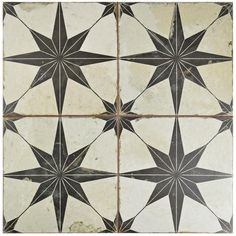 Merola Tile Star Nero 17-5/8 in. x 17-5/8 in. Ceramic Floor and Wall Tile (11.1 sq. ft. / case)