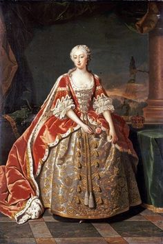Augusta of Saxe-Gotha, Princess of Wales, painted by Jean-Baptiste van Loo c. Renaissance Portraits, Renaissance Art, Historical Costume, Historical Clothing, Art Commerce, Court Dresses, Georgian Era, Royal Clothing, 18th Century Fashion