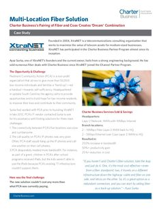 Through the Charter Business Partner Program, XtraNET was able to deliver a multi-location fiber solution to a client in need of connectivity enhancements. http://slidesha.re/1wfueeZ