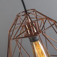 Lámpara colgante CADRE 3 cobre