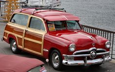 1950 Ford Custom woody - red - fvr by Rex Gray, via Flickr
