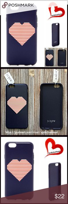 J. Crew iPhone 6 Case J. Crew iPhone 6 Case 💟 NEW WITH TAGS 💟   * An graphic heart print  * Opening for camera  * Snaps on  * Fits iPhone 6 (will not fit iPhone 5 / 5s) Material: TPU Plastic Color: Blue & pink    Item#  🚫No Trades🚫 ✅ Offers Considered*✅  *Please use the blue 'offer' button to submit an offer. J. Crew Accessories Phone Cases