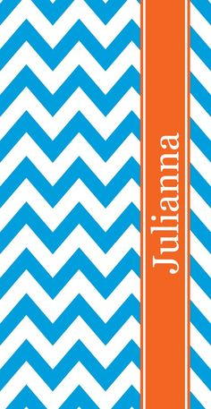 Monogram Beach Towel - Chevron