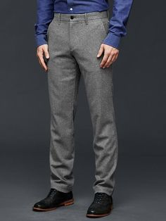 GAP Men Dress Work Slim Fit Pants Mini Plaid Wool Gray 34*34 718075 $79.95 #GAP #DressFlatFront