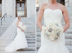 Chelsea and Andrew's Renaissance Grand Hotel St. Louis Wedding   Documentary Wedding Photography — St. Louis Wedding Photography   Erin Stubblefield Weddings and Portraiture   Bride Pose Ideas   St. Louis Public Library   Missouri   Midwest   Bouquet   White Bouquet for a winter wedding   Roses   Jewels   Hydrangeas