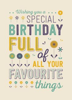 Rebecca Prinn - RP Typography Birthday Favourite Things