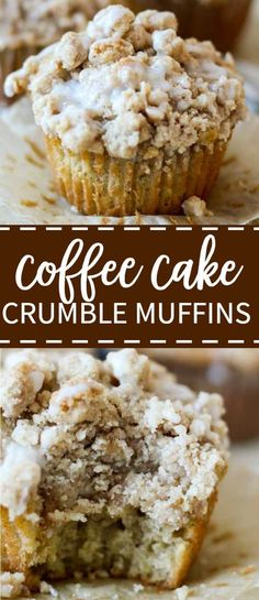 Soft and light coffee cake crumble muffins are topped with a crumbly, buttery st. Soft and light coffee cake crumble muffins are topped with a crumbly, buttery streusel top overflow Baking Recipes, Cake Recipes, Dessert Recipes, Coffee Cake Muffins, Banana Coffee Cakes, Crumble Topping, Muffin Streusel Topping, Banana Crumble Muffins, Cinnamon Streusel Muffins