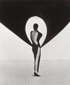 Herb Ritts, Versace Dress, Back View, El Mirage, 1990. #photography www.artandantiquesmag.com/category/photography