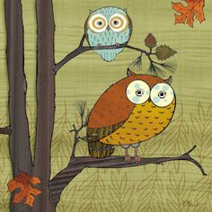 Awesome Owls I by Paul Brent Art Print  20 x 20 cm Price: £4.99  #owls #Brent