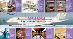 A Peek Inside a Saudi Prince's 485,000,000 Million Dollar Flying Palace - click the image