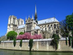 My favorite view of Notre Dame, Paris - from the back and across the river . . . I attended a concert here. This pic came from http://www.travelblat.com/things-to-do-in-france-for-business-travellers/