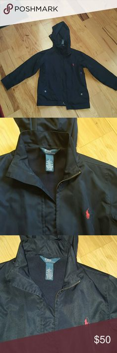 Polo windbreaker jacket Navy blue with red horse Polo by Ralph Lauren Jackets & Coats
