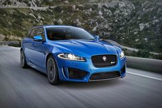 Jaguar XFR-S Sportbrake. Possibly the sexiest wagon on the road today (alongside the Audi RS4).