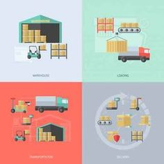 Buy Warehouse Flat Set by macrovector on GraphicRiver. Warehouse design concept set with loading transportation and delivery flat icons isolated vector illustration. Performance Measurement, Transportation Industry, Warehouse Design, Supply Chain Management, Goods And Services, Vector Pattern, Royalty Free Images, Delivery