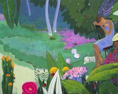 garden-rest / Oil on Canvas, 2013 / 90.9 x 72.7 cm (35.8 x 28.7 inch)