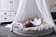Mama Baby, Dusty Blue, Bassinet, Baby Room, Kids Room, Bed, Furniture, Home Decor, Baby Nest