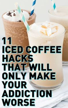 ICE COFFEE HACKS, RECIPES, AND IDEAS: Getting your caffeine fix just got so much better, easier, and more delish! Learn how to make DIY coffee popsicles, coffee ice cubes, s'mores iced coffee, and more crazy-good iced coffee drinks here!