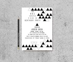 Geometric Triangle Invitation Printable Birthday / by tranquillina