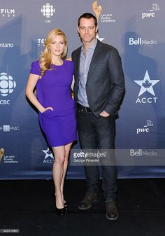 Actors Katheryn Winnick and David Sutcliffe attend the Academy's 2014 CSA Press Conference at the Ritz Carlton on January 2014 in Toronto, Canada. David Sutcliffe, Katheryn Winnick, January 13, Toronto Canada, Conference, Actors, Celebrities, Style, Swag