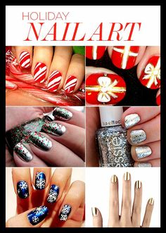 From LUX Beauty: Holiday Nail Art Ideas!
